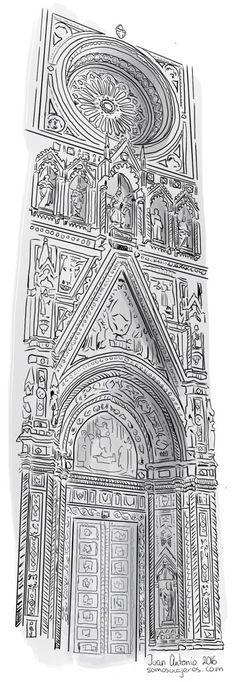 Dibujando la catedral de Florencia My Drawings, Tattoos, Illustration, Architectural Drawings, Versace, Ebay, Sketch, Angels, Dibujo