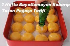 1 Hafta Bayatlamayan Kabarıp Taşan Poğaça Tarifi – Sulu yemek – Las recetas más prácticas y fáciles Diet And Nutrition, Food And Drink, Meals, Canning, Fruit, Breakfast, Recipes, Herbs, Dishes
