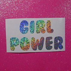 Girl power sticker, girl power gift, feminist gift, laptop decal, car decal, tumbler decal