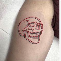 Tattoo wolf skull artists 35 ideas The post Tattoo wolf skull artists 35 ideas appeared first on Best Tattoos. Spooky Tattoos, Skeleton Tattoos, Red Tattoos, Little Tattoos, Skull Tattoos, Mini Tattoos, Small Skull Tattoo, Finger Tattoos, Tatoos