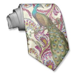 Shop Raspberry Paisley Tie created by samack. Peacock Butterfly, Peacock Theme, Peacock Wedding, Peacock Design, Peacock Pictures, Paisley Tie, Custom Ties, Unique Shoes, Groom And Groomsmen