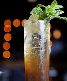 Wormhole 1½ oz. Fernet Branca Menta 1 oz. cold-brew coffee ¼ oz. fresh lime juice Sparkling mineral water (Topo Chico) Garnish: mint sprig