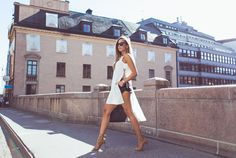 Kenza - Top from Asos // shorts, jewelry and shoes from Zara // Prada shades // Céline bag