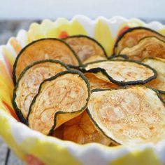 Chips de calabacín en horno,microondas o deshidratador