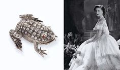 AN ANTIQUE DIAMOND AND RUBY FROG BROOCH  The body set with rose-cut diamonds to the cabochon ruby eyes, mounted in silver and gold, circa 1890, 3.0 cm. wide, with French assay mark for gold.