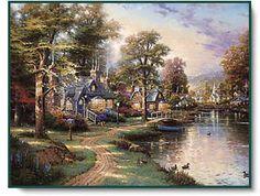 Hometown Lake ~ Thomas Kinkade