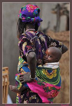 Colors of Cameroun-IV - Tourou, Extreme-North African Life, African Culture, African Women, We Are The World, People Around The World, Mother And Father, Mother And Child, Black Is Beautiful, Beautiful People