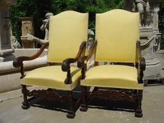 French walnut armchairs - LeLauvre French Antiques