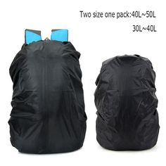 Waterproof Backpack Rain Cover for Hiking Camping Traveling Outdoor Activities (40 L+ 50 L). Capacity: 30L-40L/ 40L-50L with 2 sizes and 4 colors selectable. Lightweight and easily stowable waterproof rain cover, durable, waterproof. Elastic band and adjustable tightening string to fit more backpack sizes. Keep your backpack and belongings dry from rain, mud and dust. Perfect for outdoor travel, riding, climbing, hiking and so on.