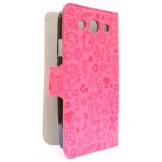 Galaxy S3 hot pink kuviollinen kansikotelo. Samsung Galaxy S3, Hot Pink, Pink