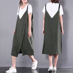 new green casual linen dresses plus size sleeveless dressThis dress is made of cotton linen fabric, soft and breathy, suitable for summer, so loose dresses to make you comfortable all the time. Makes you look slimmer Linen Dresses, Casual Dresses, Casual Outfits, Summer Dresses, Loose Dresses, Cute Maternity Outfits, Plus Size Dresses, New Dress, Fashion Design