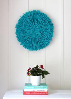 Turquoise Wool JuJu Hat by flutterflutterstudio on Etsy,
