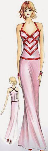 quenalbertini: Marfy 2005 by Irina Vladimirova, Picasa Web Albums Fashion Illustration Template, Fashion Illustrations, Fashion Forever, Pretty Dresses, Fashion Art, Sewing Projects, Sewing Patterns, My Style, Edwardian Dress