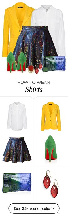 """""""Holographic Skirt"""" by tayswift-1d on Polyvore"""