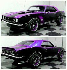 This car looks like it has purple highlights!
