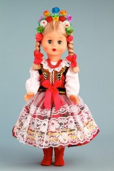 DreamWorld Collections Krakovian Girl (Krakowianka) - 18 Inch Collectible Regional Doll : Polish Regional Dolls