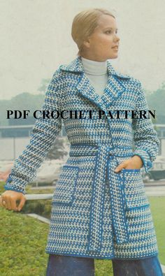 Vintage 1970'S Striped & Rippled Sweater Jacket by KatnaboxCrochet