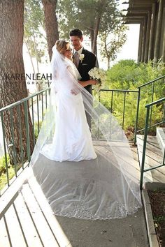 Your wedding veil is what adorns you and your dress, so make it prominent, allowing it to create a statement within your overall look as the bride.  http://www.rosepetalevent.com/  #wedding #veil #bride #weddingdress #rosepetalevents