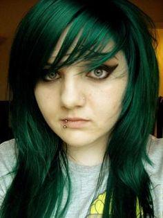 Green Hair Google Search Dark Dye Emerald