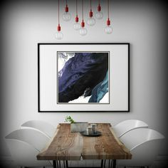 Large Abstract Painting Print, Black and Purple Painting Extra Large Art Print Black Wall Decor, Abstract Artwork on Paper, Purple Print Art