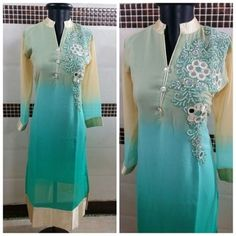 Georgette with work Size 40 ₹1000/- +⛵ For order plzz contact at 9924177066
