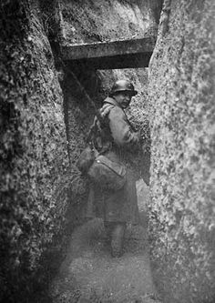 WWI. The struggle in the mud filled trenches.
