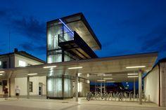 Architekturgewebe als Außenwand