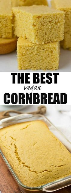 The Best Vegan Cornbread | Perfectly moist, sweet and the right amount of cornbread texture. Just like mom used to make, but vegan! #vegan #plantbased