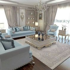 For the family/person living here, elegance prevails. Living Room Sofa, Home Living Room, Living Room Designs, Living Room Decor, Luxury Interior, Home Interior Design, Elegant Living Room, Luxury Living, Modern Bedroom