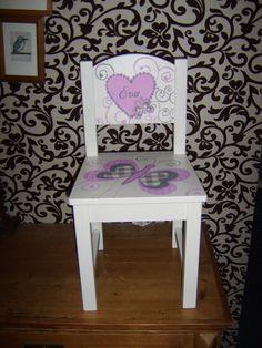 Het geboorte stoeltje voor Eva Cogels.