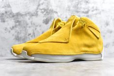 "4a7503ea342 Air Jordan 18 ""Yellow Suede"" Yellow Ochre/Sail AA2494-701 Air Jordans"