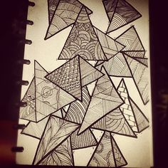 Triangles #doodle #art #sketchbook by Zoom!!, via Flickr