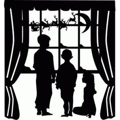 Silhouette Design Store - View Design #69901: children at window waiting for…
