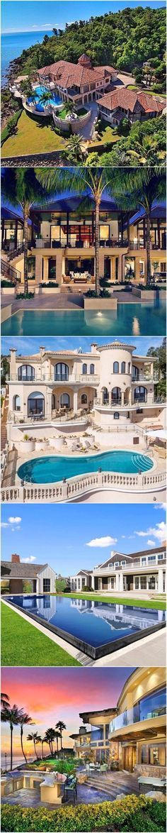 Mansions and dream homes.