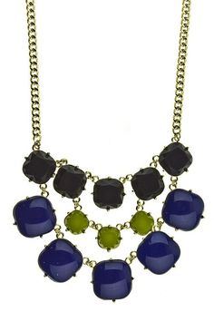 Soiree Necklace {Blue w/ Green}
