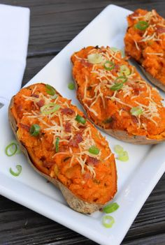 The Kitchen is My Playground: Twice-Baked Sweet Potatoes {Eating the Alphabet - Letters S or T}