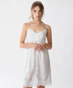 Embroidered strappy nightdress - Nighties & Jumpsuits - SLEEPWEAR | Autumn…