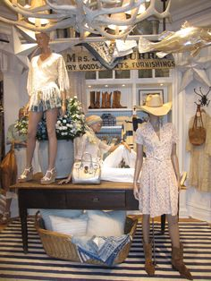 Ralph Lauren Aspen Store - Whimsical florals paired with rugged cowboy boots create an authentic Western feel