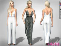 The Sims Resource: 208 - Formal jumpsuit by sims2fanbg • Sims 4 Downloads