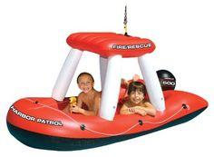 Fireboat Pool Float - love it