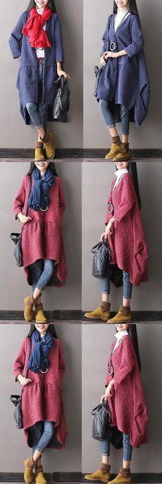 Women cotton loose autumn coat