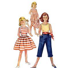 50s Girls Blouse Skirt Shorts & Pedal Pushers Vintage Pattern Simplicity 4276 UNCUT Size 10; $9.25