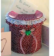 Valentine's Day Kids' Crafts: Coffee Can Card Holder - Gift, Recycling Craft - Kaboose.com