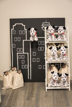 Dalmatian dog favors from Vintage Fire Truck Themed Birthday Party at Kara's Party Ideas. See more at karaspartyideas.com!