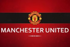 4acaafe85 A red white and yellow wallcovering with the Manchester United Football  Club crest and logo.