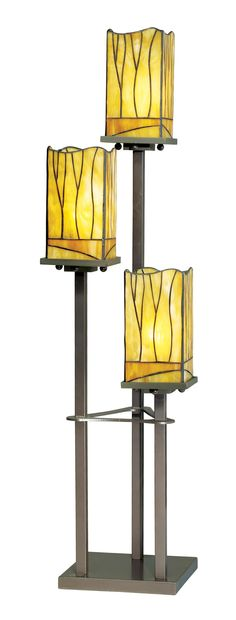 Sedona Collection 3-Tier Tiffany-Style Console Table Lamp -