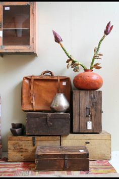 Suitcases and crates