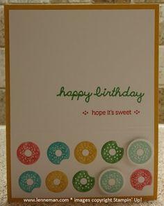 Sprinkles On Top Birthday Donuts- Dena Lenneman, Stampin' Up! Demonstrator