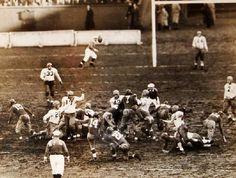 Giants (Ward Cuff #14, Ed Danowski #22, Mel Hein #7) vs Green Bay November 30, 1938