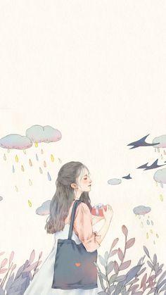 New illustration art girl anime draw Ideas Art And Illustration, Illustration Inspiration, Illustrations, Kawaii Wallpaper, Cute Wallpaper Backgrounds, Cute Cartoon Wallpapers, Screen Wallpaper, Girl Wallpaper, Cartoon Kunst